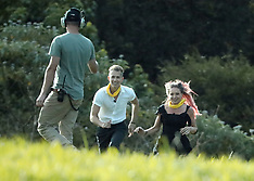 I'm a Celebrity Get Me Out of Here UK contestants run back to the helicopter - 18 Nov 2018