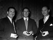 20/03/1957<br /> 03/20/1957<br /> New Government at Aras an Uachtarain. Three of the new cabinet members.