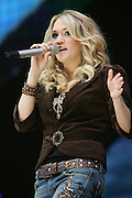 Carrie Underwood performs at the MyCokefest concert in Indianapolis, Indiana on April 2, 2006. Photo by Michael Hickey