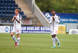 Falkirk's Shepard and Hippolyte. Falkirk 6 v 1 Elgin City, Irn-Bru Challenge Cup Third Round, played 3/9/2016 at The Falkirk Stadium .