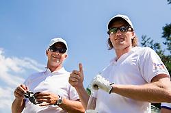Damjan Murgelj and Gregor Slabe of Slovenia during Slovenia Long Drivers European Tour  Championship on July 5, 2014 in  Golf Arboretum Ljubljana, Volcji Potok, Slovenia. Photo By Vid Ponikvar / Sportida