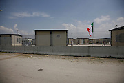 Roma Gypsies in Castel Romano Container Camp, near Rome Italy