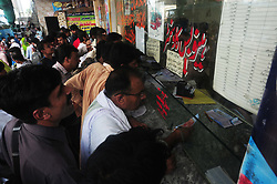 August 31, 2017 - Rawalpindi, Punjab, Pakistan - Massive crowd of travels can be seen at bus terminals and other transport hubs all around the twin cities as majority of residents leave for native towns and villages to celebrate Eid Ul Adha. (Credit Image: © Zubair Abbasi/Pacific Press via ZUMA Wire)