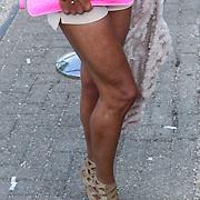 NLD/Amsterdam/20120601 - Uitreiking Talkies Terras Awards 2012, gespierde benen met littekens van Inge de Bruin