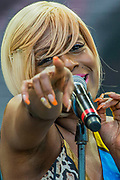 Chic led by Nile Rodgers play the Pyramid stage - The 2017 Glastonbury Festival, Worthy Farm. Glastonbury, 25 June 2017