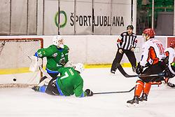 Kalan Luka of HDD Jesenice during Hockey match between SZ HD Olimpija and HDD Jesenice in 4tht match of Quarterfinals of Alps Hockey League, on March 13, 2018 in Hala Tivoli, Ljubljana, Slovenia. Photo by Ziga Zupan / Sportida