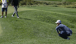 October 21, 2017 - Seogwipo, Jeju Island, South Korea - Luke List of USA check for putt on the 2th hole during an PGA TOUR CJ CUP NINE BRIDGE DAY 3 at Nine Bridge CC in Jeju Island, South Korea. (Credit Image: © Ryu Seung Il via ZUMA Wire)