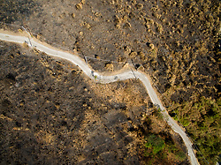 July 27, 2017 - Naples, Italy - Arial photographs of the National Park at Vesuvius, vast arial of vegetation destroyed of the fire, Naples, Italy July on 27,2017  (Credit Image: © Paolo Manzo/NurPhoto via ZUMA Press)