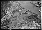 "Ackroyd-01670-1 ""Aerials of oil tank farms. August 9, 1949"" (5x7"") ""Portland Gas & Coke. Linnton plant.""  (Gasco, DEQ site ID 84, south of St. Johns bridge. Siltronic.)"