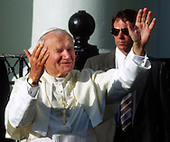 A 36 MG IMAGE OF:..Pope John Paul II in Miami, Florida September 10, 1987  Photo by Dennis Brack