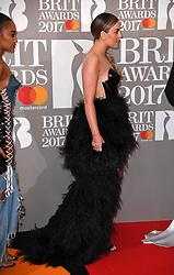Little Mix's Perrie Edwards attending the BRIT Awards 2017, held at The O2 Arena, in London.<br /><br />Picture date Tuesday February 22, 2017. Picture credit should read Doug Peters/ EMPICS Entertainment. Editorial Use Only - No Merchandise.