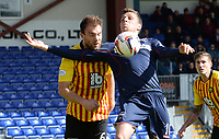 25/04/15 SCOTTISH PREMIERSHIP <br /> ROSS COUNTY V PARTICK THISTLE<br /> GLOBAL ENERGY STADIUM - DINGWALL<br /> Partick Thistle's Conrad Balatoni (left) battles for the ball with Filip Kiss (right)