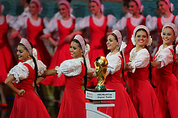 December 1, 2017 - Moscow, Russia - Artists preform on the stage before the Final Draw for the 2018 FIFA World Cup at the State Kremlin Palace on December 01, 2017 in Moscow, Russia. (Credit Image: © Igor Russak/NurPhoto via ZUMA Press)