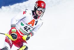 "29.01.2019, Planai, Schladming, AUT, FIS Weltcup Ski Alpin, Slalom, Herren, 2. Lauf, im Bild Johannes Strolz (AUT) // Johannes Strolz of Austria reacts after his 2nd run of men's Slalom ""the Nightrace"" of FIS ski alpine world cup at the Planai in Schladming, Austria on 2019/01/29. EXPA Pictures © 2019, PhotoCredit: EXPA/ JFK"