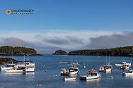 Fishing boats in harbor at Cutler, Maine, USA