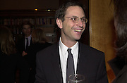 Adam Moss. party to welcome Billy Norwich as the new Entertaining editor. New York Times magazine. 229 W 43rd St. NY  9/2/00<br />© Copyright Photograph by Dafydd Jones 66 Stockwell Park Rd. London SW9 0DA Tel 0171 733 0108 www.dafjones.com