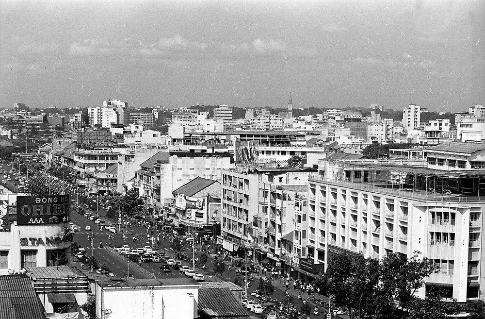 Saigon, Vietnam April 1975. A street scene on one of the main streets during the last days of normality before the fall to the North. Photograph by Terry Fincher © The Fincherfiles
