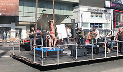 "EXCLUSIVE: ** NO USA TV AND NO USA WEB **  Heidi Klum likes to watch ... models get wet on Hollywood Boulevard. It's her job, after all. Heidi spent part of her Friday rolling through the heart of Hollywood while watching a bikini-clad model take a shower ... on the back of a flatbed truck. Just another day in La La Land, right? The scene was being shot for ""Germany's Next Topmodel,"" which Heidi judges and also executive produces. She taped something similar last year when she had models posing on a bed in the same area. 03 Feb 2018 Pictured: Heidi Klum. Photo credit: TMZ/MEGA TheMegaAgency.com +1 888 505 6342"