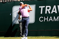 June 21, 2018 - Cromwell, CT, U.S. - CROMWELL, CT - JUNE 21: Jason Day of Australia hits from the 1st tee during the First Round of the Travelers Championship on June 21, 2018, at TPC River Highlands in Cromwell, Connecticut. (Photo by Fred Kfoury III/Icon Sportswire) (Credit Image: © Fred Kfoury Iii/Icon SMI via ZUMA Press)