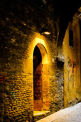 An interesting doorway in the Via de' Foscherari - a cobbled street in old Bologna, Italy<br /> <br /> (c) Andrew Wilson | Edinburgh Elite media