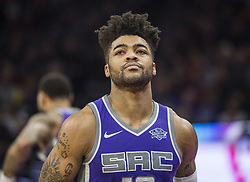 December 29, 2017 - Sacramento, CA, USA - The Sacramento Kings' Frank Mason III walks off the court during a game against the Phoenix Suns on Friday, Dec. 29, 2017, at the Golden 1 Center in Sacramento, Calif. (Credit Image: © Hector Amezcua/TNS via ZUMA Wire)