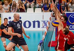 24-09-2016 NED: EK Kwalificatie Nederland - Wit Rusland, Koog aan de Zaan<br /> Nederland verliest de eerste twee sets / Jasper Diefenbach #6