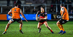 Dragons' Sam Beard in action during todays match<br /> <br /> Photographer Craig Thomas/Replay Images<br /> <br /> Guinness PRO14 Round 18 - Dragons v Cheetahs - Friday 23rd March 2018 - Rodney Parade - Newport<br /> <br /> World Copyright © Replay Images . All rights reserved. info@replayimages.co.uk - http://replayimages.co.uk