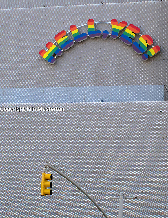 Exterior of New Museum of Contemporary Art in Manhattan New York City USA