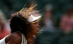 Naomi Osaka in action on day one of the Wimbledon Championships at the All England Lawn Tennis and Croquet Club, Wimbledon.