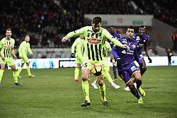 January 27, 2019 - Toulouse, France - Mathieu Dossevi (tfc) vs Steven Moreira  (Credit Image: © Panoramic via ZUMA Press)