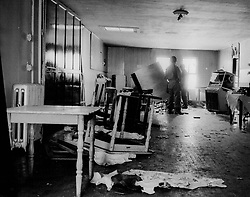August 1, 1967 - Michigan, U.S. - The Blind Pig with a turned over bar at far end during the riots of 1967 in Detroit. (Credit Image: © Detroit Free Press via ZUMA Wire)