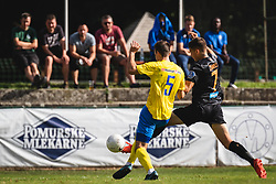 Ivo Kuzma of ND Beltinci and Nino Žugelj of Bravo during football match between ND Beltinci and NK Bravo in 1st Round of Pokal Slovenije 2020/21, on September 23, 2020 in Športni park Beltinic, Slovenia. Photo by Blaž Weindorfer / Sportida