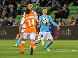 October 6, 2017 - Melbourne, Victoria, Australia - Melbourne, Victoria, Australia - Dylan Pierias (#36) of Melbourne City in action during the round 1 match between Melbourne City and Brisbane Roar at AAMI Park in Melbourne, Australia during the 2017/2018 Australian A-League season. (Credit Image: © Theo Karanikos via ZUMA Wire)