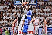 DESCRIZIONE : Campionato 2014/15 Serie A Beko Dinamo Banco di Sardegna Sassari - Grissin Bon Reggio Emilia Finale Playoff Gara4<br /> GIOCATORE : Shane Lawal<br /> CATEGORIA : Schiacciata Controcampo<br /> SQUADRA : Dinamo Banco di Sardegna Sassari<br /> EVENTO : LegaBasket Serie A Beko 2014/2015<br /> GARA : Dinamo Banco di Sardegna Sassari - Grissin Bon Reggio Emilia Finale Playoff Gara4<br /> DATA : 20/06/2015<br /> SPORT : Pallacanestro <br /> AUTORE : Agenzia Ciamillo-Castoria/L.Canu