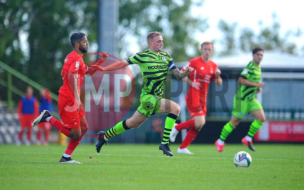 Jobi McAnuff of Leyton Orient chases down Carl Winchester of Forest Green Rovers - Mandatory by-line: Nizaam Jones/JMP - 05/09/2020 - FOOTBALL - New Lawn Stadium - Nailsworth, England - Forest Green Rovers v Leyton Orient - Carabao Cup