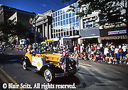 American small town festivals, July 4th, Antique autos, Hazelton, PA