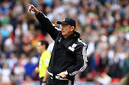 West Bromwich Albion Manager Tony Pulis makes his point. Barclays Premier League match, Stoke city v West Bromwich Albion at the Britannia stadium in Stoke on Trent, Staffs on Saturday 29th August 2015.<br /> pic by Chris Stading, Andrew Orchard sports photography.