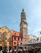 Austria, Innsbruck historic town hall (ERECTED 1358) in Herzog-Friedrich Strasse in the historic town