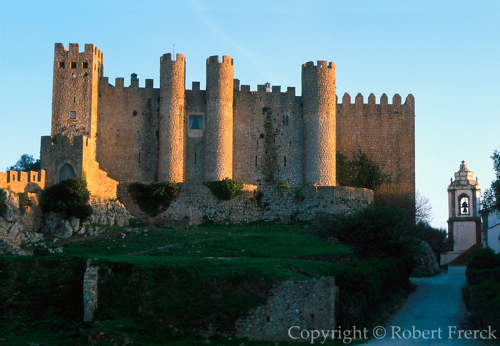 PORTUGAL, CENTRAL AREA, OBIDOS castle now Pousada/hotel in an ancient, medieval, walled town; one of Portugal's most picturesque towns