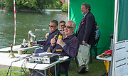 """Maidenhead. Berkshire. United Kingdom. <br /> <br /> Self Styled,  """"Voice of the Rowing"""" Robert TREHARNE JONES, commentating at the 2017 Maidenhead Junior Regatta  River Thames. <br /> <br /> [©Peter SPURRIER/Intersport Images] Sunday. 14.05.2017"""