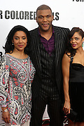 25 October 2010- New York, NY- l to r: Phylicia Rashad, Tyler Perry and Tessa Thompson at Tyler Perry's World Premiere of the Film 'For Colored Girls ' an Adaptation of Ntozake Shange's play ' For Colored Girls Who Have Considered Suicide When the Rainbow Is Enuf.' held at the Zeigfeld Theater on October 25, 2010 in New York City.