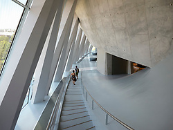 Interior of Mercedes Benz Museum in Stuttgart Germany