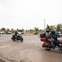 The Navajo Nation 2019 Police Honor Ride rides in to  Window Rock Tribal Park, Friday, May 10. The two day ride began in Thoreau, New Mexico Thursday, May 9, traveled up to Kayenta, Arizona, and back down to Window Rock to honor fallen Navajo police officers.