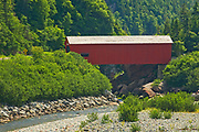 Covered bridge on Point Wolfe River<br />Fundy National Park<br />New Brunswick<br />Canada