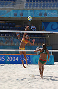 20040816 Olympic Games Athens Greece [Beach Volley Ball].Faliro Coastal Zone - Olympic Complex.Photo  Peter Spurrier ..images@intersport-images.com.Tel +44 7973 819 551.