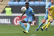 Coventry City forward (on loan from Wolverhampton Wanderers)Bright Enobakhare (24) has eyes on the ball during the EFL Sky Bet League 1 match between Coventry City and Bristol Rovers at the Ricoh Arena, Coventry, England on 7 April 2019.