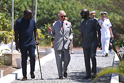 RETRANSMITTING CORRECTING LOCATION The Prince of Wales speaks to architect Kofi Adjaye (right) during a visit to the Marine Drive Project in Accra, Ghana, on day four of his trip to west Africa with the Duchess of Cornwall..