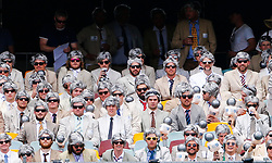 Fans dressed as Richie Benaud during day two of the Ashes Test match at The Gabba, Brisbane.