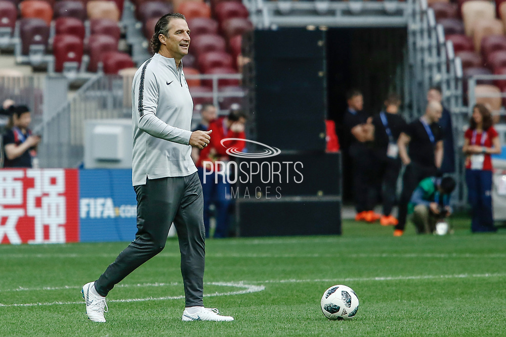 Saudi Arabia coach Juan Antonio Pizzi during the Saudi Arabia training session on June 13, 2018 the day before the opening match of the 2018 FIFA World Cup Russia, Group A football match between Russia and Saudi Arabia at Luzhniki Stadium in Moscow, Russia - Photo Thiago Bernardes / FramePhoto / ProSportsImages / DPPI