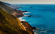 Hwy 1 seen from Nascimento Road, in Big Sur.